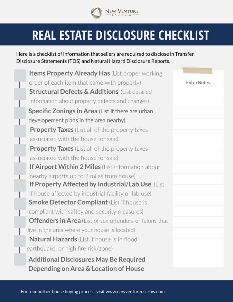 Real-Estate-Disclosure-Checklist